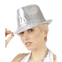 Glitter Hoed Zilver