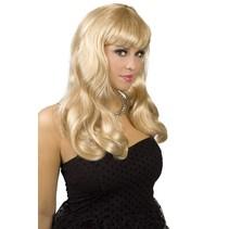 Pruik Lang Haar Blond