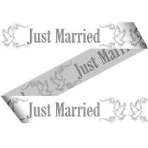 Afzetlint Just Married 15 meter