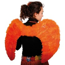 Engelen Vleugels Oranje 80cm