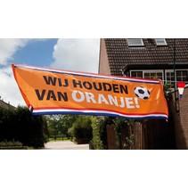 Vlag Wij houden van Oranje 2,2 meter