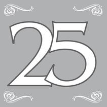 Servetten 25 Zilver 20 stuks