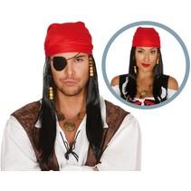 Piraten Pruik met Bandana