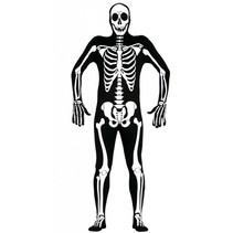 Halloween Kostuum Skelet Morphsuit