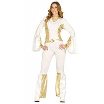 Disco Kostuum Wit 70's Dames