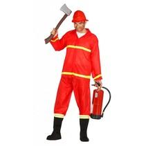 Brandweer Kostuum Rood M/L