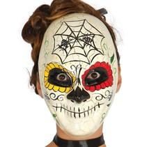 Mexicaans Masker Day of the Dead Ivoor voorkant