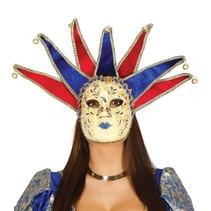 Venetiaans Masker Vrouw Bel voorkant