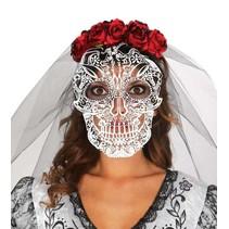 Halloween Haarband Skelet met sluier