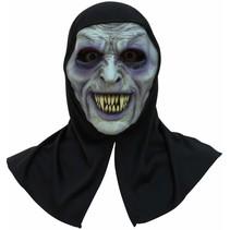 Halloween Masker Vampier met capuchon Deluxe volledig