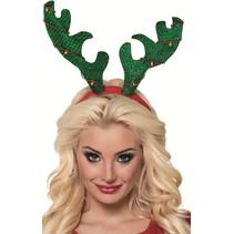 Kerst Haarband Rendier met glitters