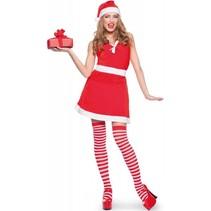 Kerstvrouw Jurkje Rood