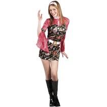 Disco Kostuum Kimono 70's Dames
