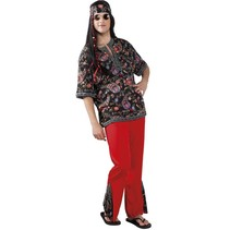 Hippie Kostuum Rood XL