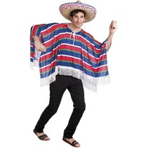 Mexicaanse Poncho Deluxe M/L