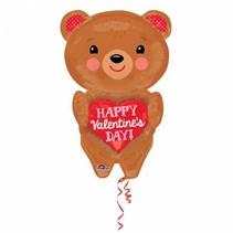 Helium Ballon Happy Valentine's Day Beer XL 71cm leeg