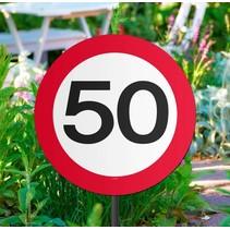 Tuinbord 50 Jaar Verkeersbord 52cm