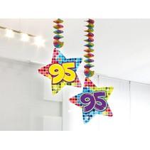 Hangdecoratie 95 Jaar 75cm 2 stuks