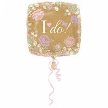 Helium Ballon Bruiloft Ja ik wil! 43cm leeg