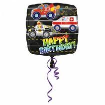 Helium Ballon Happy Birthday Reddingsvoertuig 43cm leeg