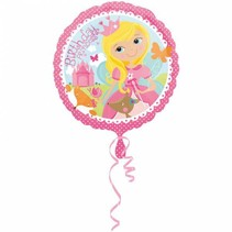 Helium Ballon Happy Birthday Princess 43cm leeg