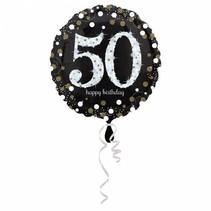 Helium Ballon 50 Jaar Zilver 43cm leeg