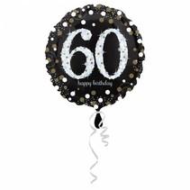 Helium Ballon 60 Jaar Zilver 43cm leeg