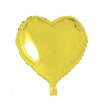 Helium Ballon Hart Geel 46cm leeg