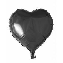 Helium Ballon Hart Zwart 46cm leeg