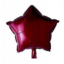 Helium Ballon Ster Bordeaux Rood 46cm leeg
