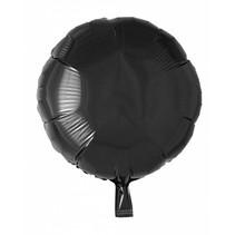 Helium Ballon Rond Zwart 46cm leeg