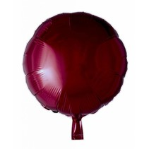 Helium Ballon Rond Bordeaux Rood 46cm leeg