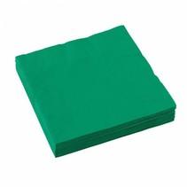 Groene Servetten 33x33cm 20 stuks