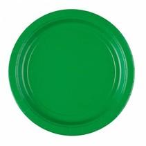 Groene Borden 23cm 8 stuks