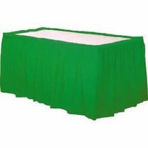 Groen Tafelrok Plastic 426x73cm