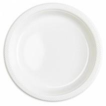 Witte Borden Plastic 23cm 10 stuks