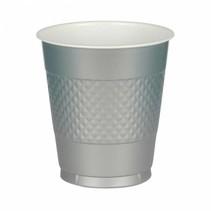 Zilveren Bekers Plastic 355ml 10 stuks