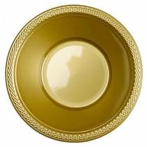 Gouden Tafelbakjes Plastic 335ml 10 stuks