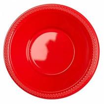Rode Tafelbakjes Plastic 335ml 10 stuks