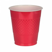 Rode Bekers Plastic 355ml 10 stuks