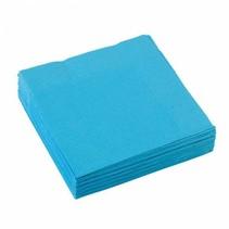 Lichtblauw Servetten 25x25cm 20 stuks