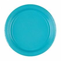 Lichtblauw Borden 23cm 8 stuks