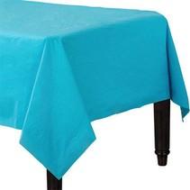 Lichtblauw Tafelkleed Plastic 274x137cm