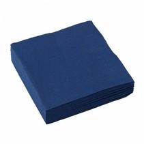 Donkerblauwe Servetten 25x25cm 20 stuks