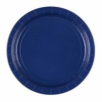 Donkerblauwe Borden 23cm 8 stuks