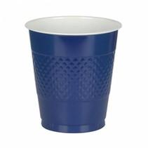 Donkerblauwe Bekers Plastic 355ml 10 stuks