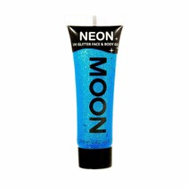 Body Paint Blauw Glitter Neon UV 12ml
