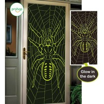 Halloween Deurposter Spin Glow in the Dark 150x75cm