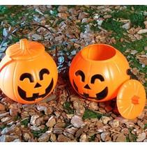 Halloween Pompoen met deksel 17cm