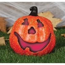 Halloween Pompoen met licht 15cm